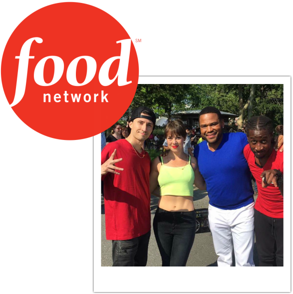 Hip Hop Dancers at a Food Network show with Anthony Anderson!
